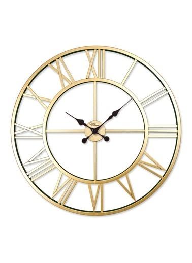 Ultima Regal Ultima Regal Ferforje İskelet Roma Modern Duvar Saati Yaldız Renkli